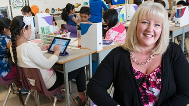Surrey teacher Robyn Thiessen has been piloting FreshGrade — a digital platform that allows parents to check in on how students are doing — in her third grade classroom.