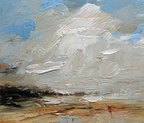 Louise Balaam - Holkham, high white clouds