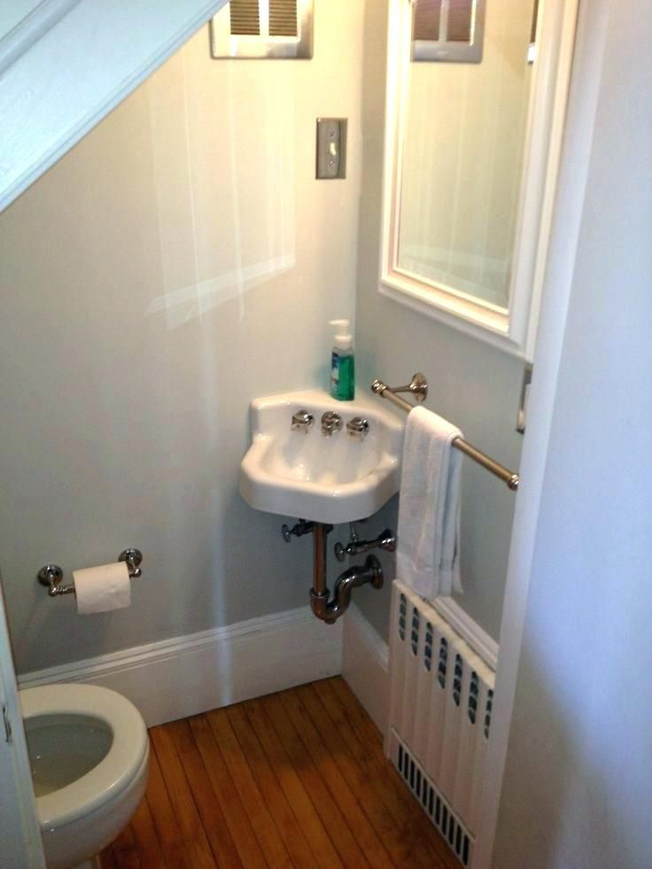 Adding A Bathroom Upstairs Adding A Bathroom Upstairs Cute Half Bath Tucked Under Stairs On Bathroo Bathroom Under Stairs Small Half Bathrooms Small Half Baths