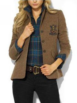 Ralph Lauren ~ Tweed and tartan.