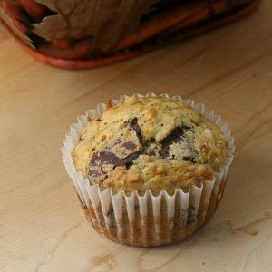 Banana Chocolate Chunk Muffins from JensFavoriteCookies.com for #BrunchWeek
