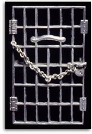"""""""Jailed for Freedom"""" pin that was awarded to all women who were jailed for picketing the White House by the National Woman's Party"""
