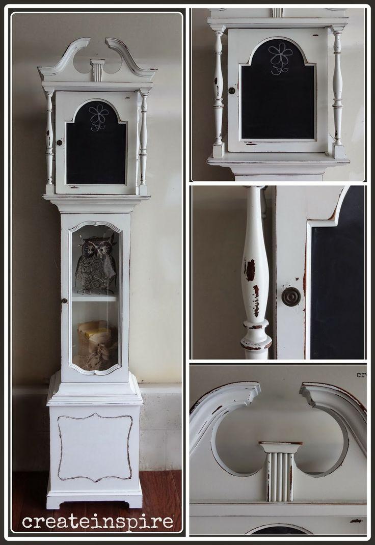 Repurposed Grandfather Clock - I love it!!