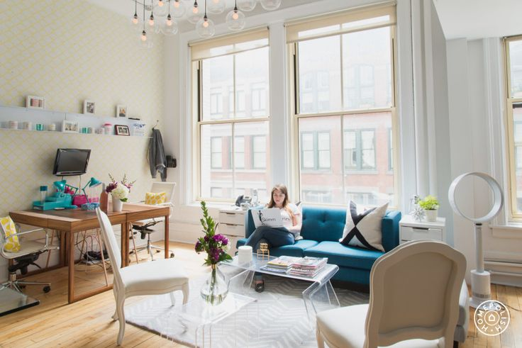 The Skimm's Marvelous NYC Office Makeover - The newsletter company gets a fun and functional makeover. - @Homepolish New York City