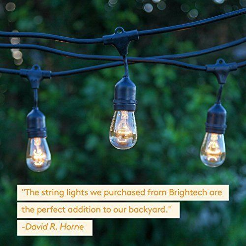 Lights For Patio Garden Porch Backyard Strand with Hanging Sockets Weatherproof #LightsForPatioGardenPorch