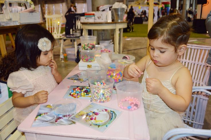 Two little best friends deep in creativity! JMP jewellery workshops.