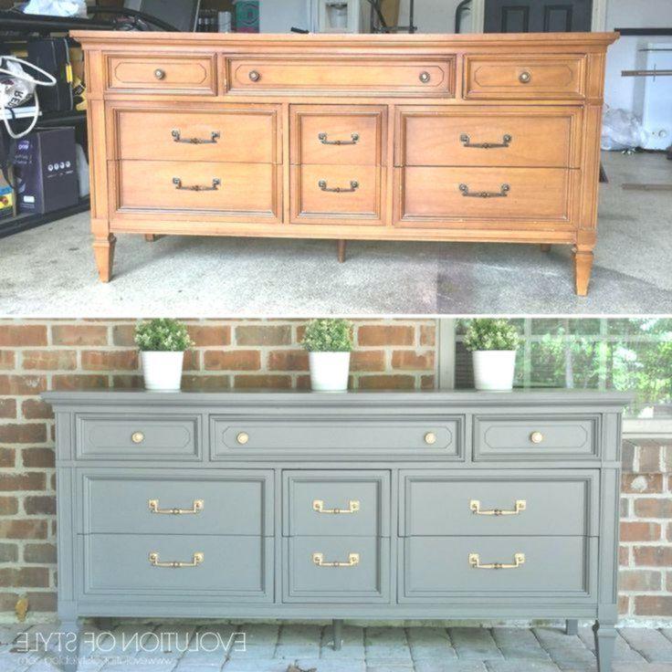 Vorher Nachher Graue Kommode Bemalte Mobel Furniture Makeover Diy Refurbished Furniture Furniture Rehab