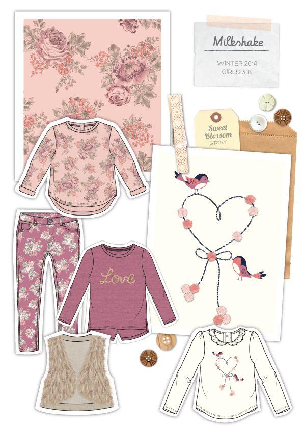 Design garments for Myer's Milkshake brand for girls and boys ages 3-8