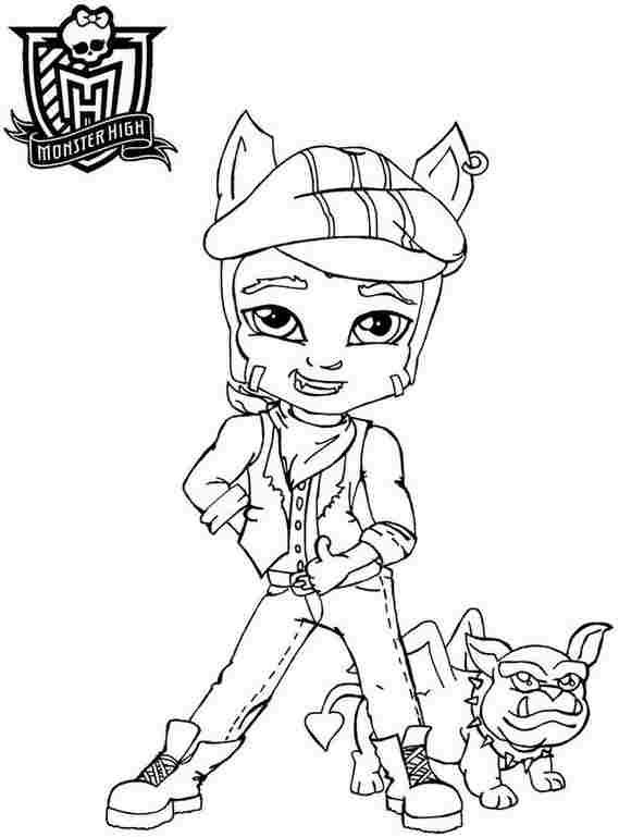 small monster high coloring pages - photo#7