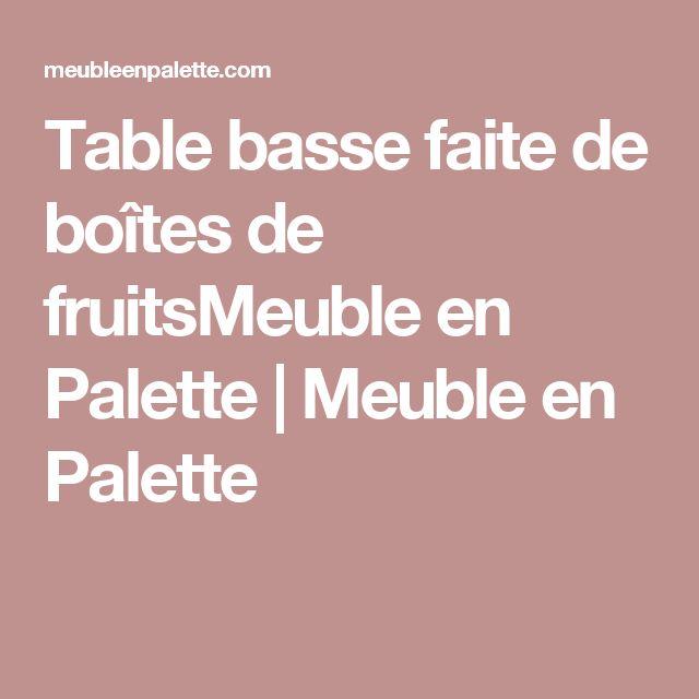 Table basse faite de boîtes de fruitsMeuble en Palette | Meuble en Palette