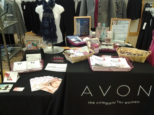 Ask a retail store if you can set up an Avon table to give out books samples for a customer appreciation day!