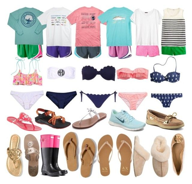 """""""Beach Trip: Part 1"""" by elizabethjamesw ❤ liked on Polyvore featuring NIKE, Southern Tide, Lilly Pulitzer, J.Crew, H&M, Topshop, Tory Burch, Aerie, American Eagle Outfitters and Victoria's Secret PINK"""