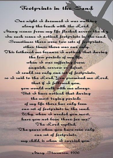 footprints in the sand poem | footprints poem. PRINTABLE POEM FOOTPRINTS IN