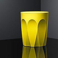 glass collection stool latte citron