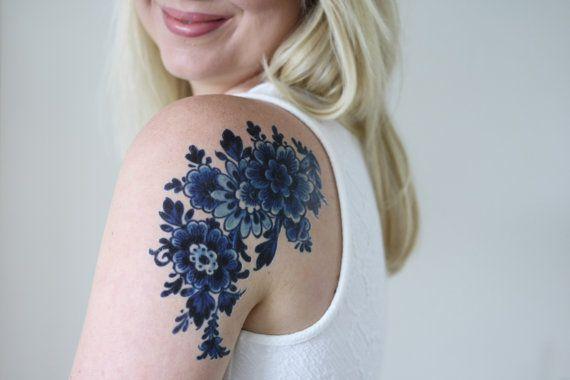Tatuaggio temporaneo olandese Delft Blue / tatuaggio di Tattoorary