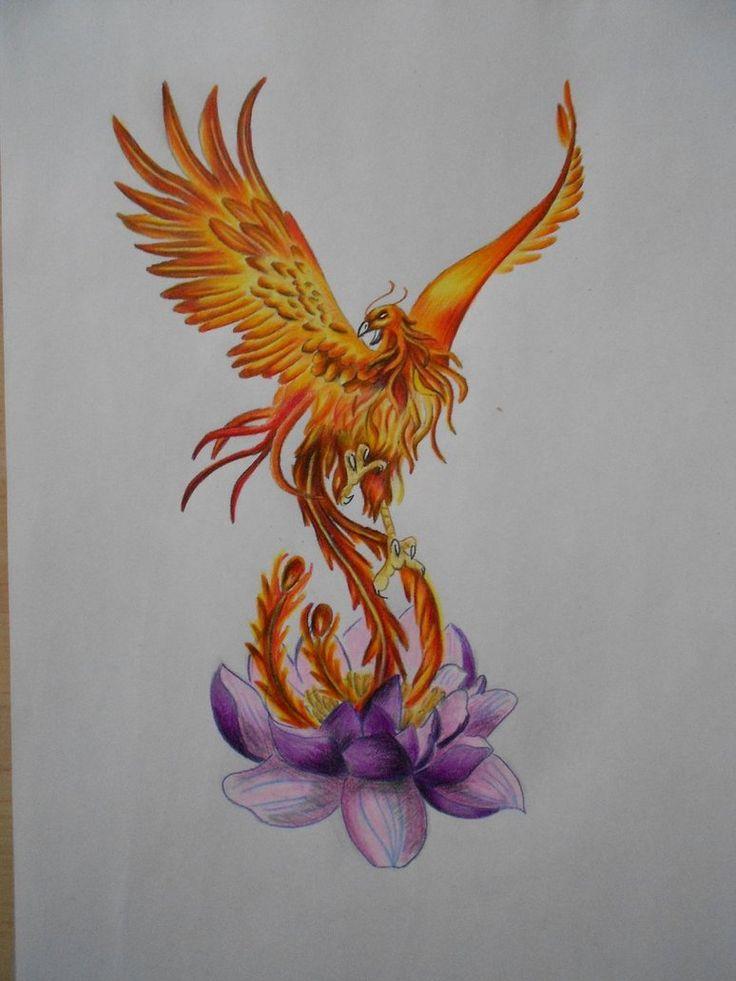 This Is Custom Drawn Phoenix Bird Tattoo Flash It For Sale Please