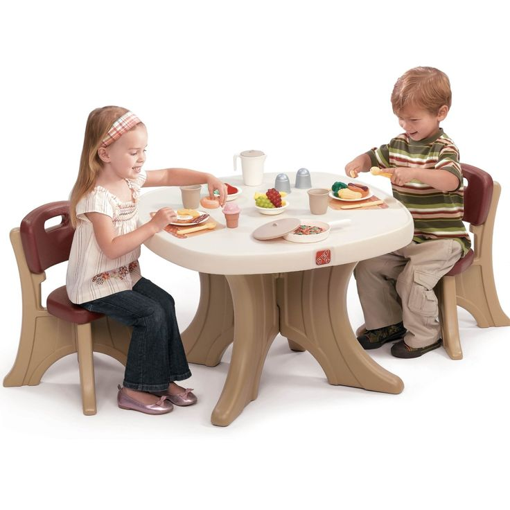 Step2 New Traditions Table Chairs Set Sturdy Plastic Set