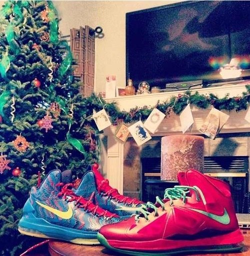 Christmas spirit. (Lebron 10 & KD 5 Christmas.