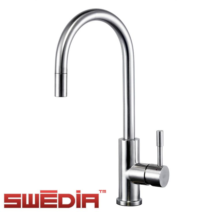 This solid 304 grade stainless steel mixer has a beautiful brushed finish, a practical yet unapparent retractable pull-out hose, and highly reliable components such as ceramic cartridge technology, Spanish stainless steel inlet hoses, and a Swiss aerator.