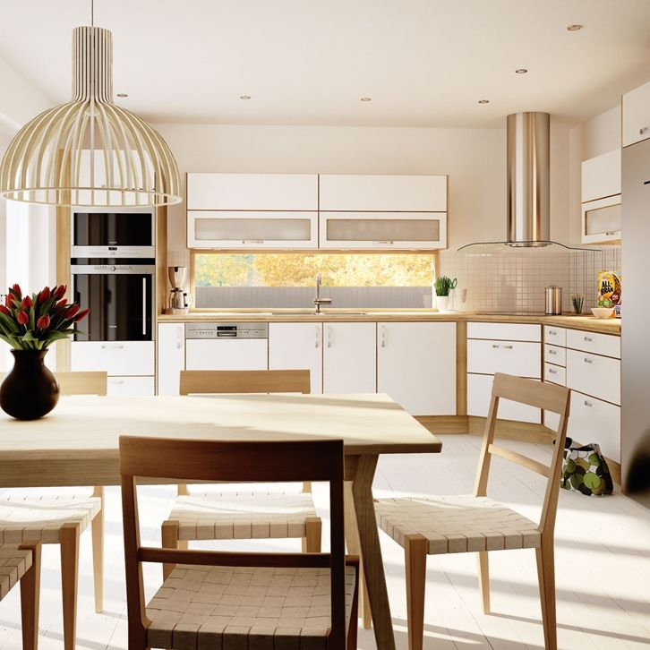 Köksinspiration -  Vitt kök i ek - Style