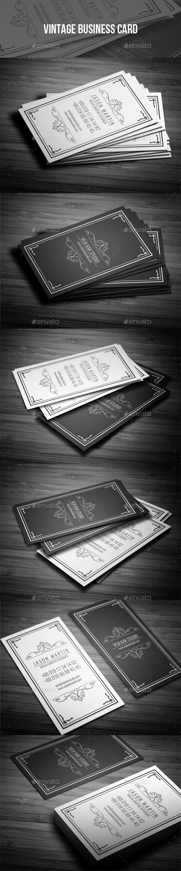 Vintage Business Card - Retro/Vintage Business Cards Download here : http://graphicriver.net/item/vintage-business-card/15454588?s_rank=297&ref=Al-fatih