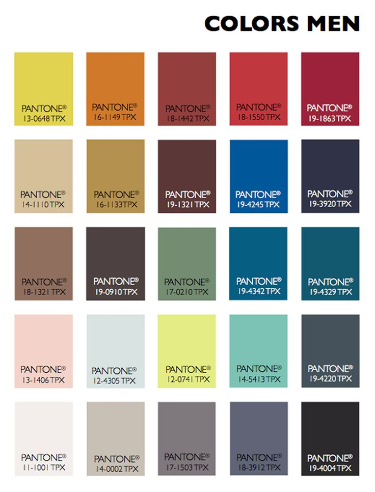 Pantene S Men Fashion Colors For 2016