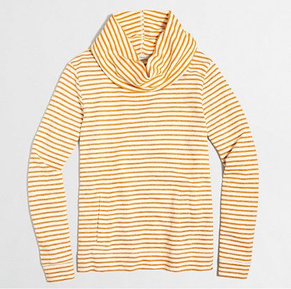 Striped funnelneck sweatshirt