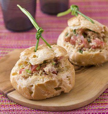 Petits choux farcis au thon et à la tomate - Recettes de cuisine Ôdélices