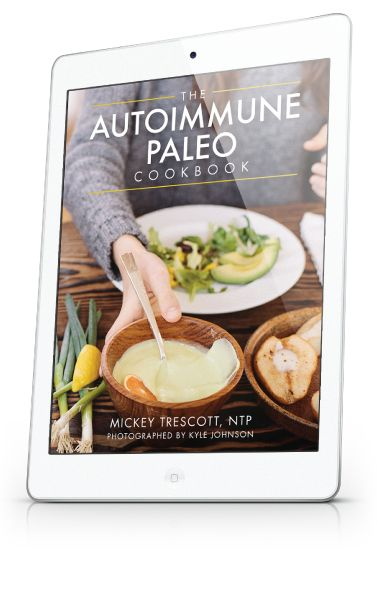 A recipe ebook for the paleo autoimmune protocol. Contains over a hundred recipes that are free from dairy, beans, grains, legumes, soy, nuts, seeds, and nightshades and suitable for those on an elimination diet.