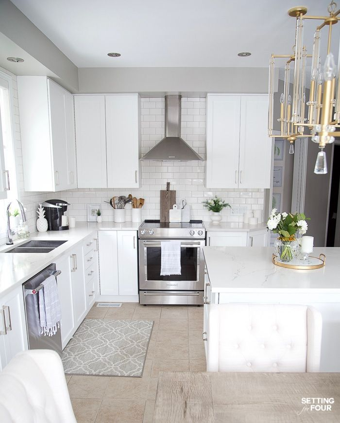 Our Dark to White Kitchen Remodel Before and After