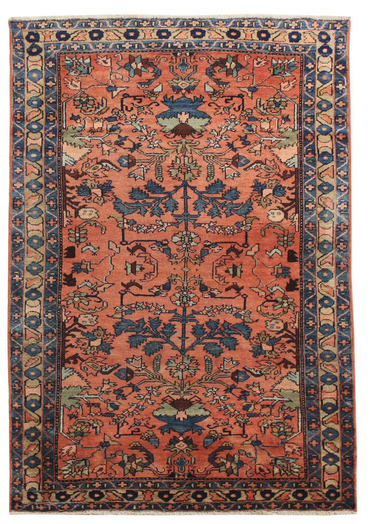 Cod. 7872 Lilian antico 150x105, tappeto persiano, antique rug