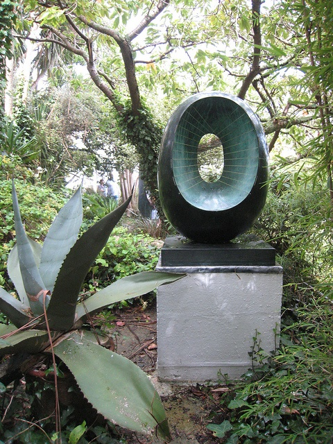 Barbara Hepworth sculpture garden and museum, St Ives, Cornwall