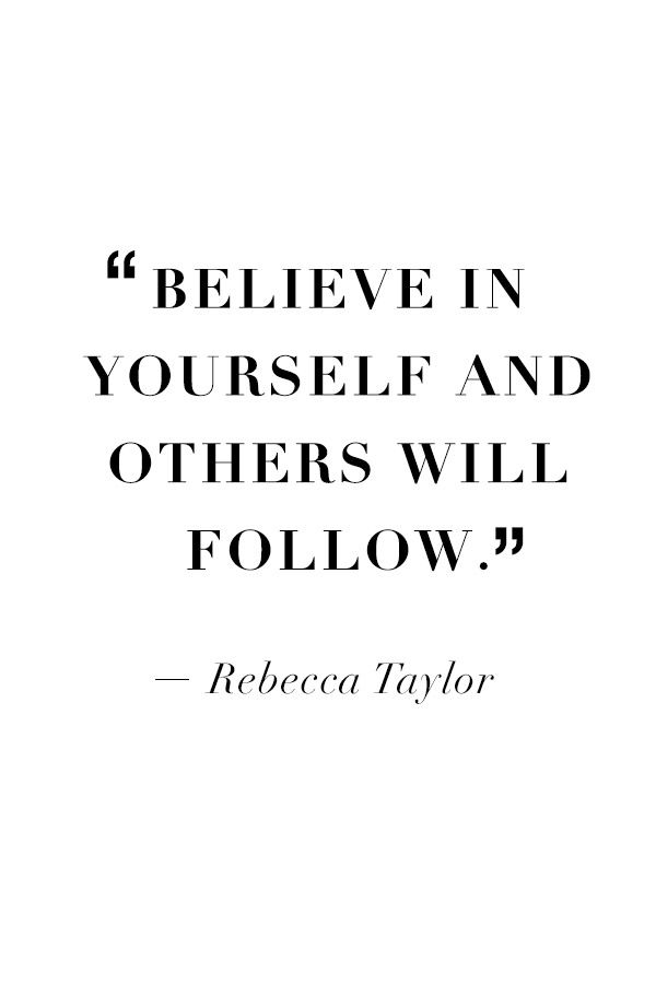 Wise words from #RebeccaTaylor that can be used in both life and style…