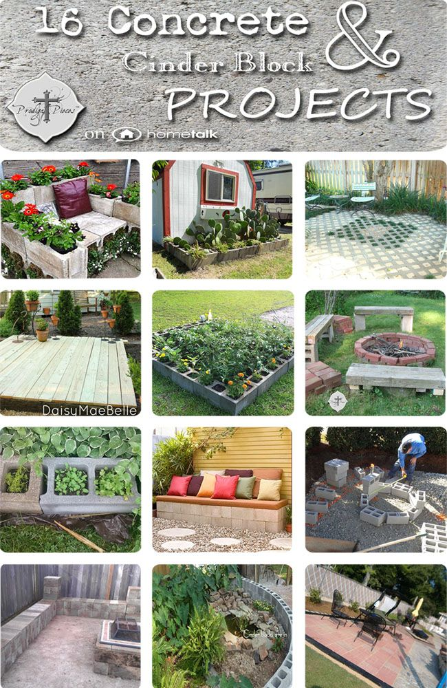 16 Concrete & Cinder Block Projects | curated by 'Prodigal Pieces' blog!