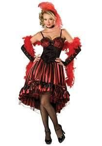 Red Saloon Girl Western Costume - A great costume idea for a wild west, or Moulin Rouge themed Halloween party. Description from pinterest.com. I searched for this on bing.com/images
