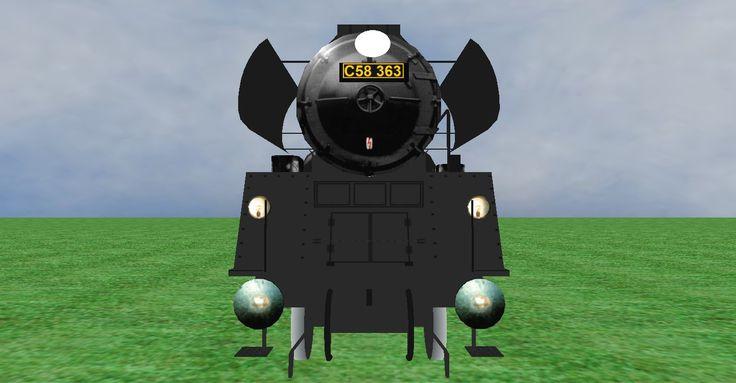JNR C58 steam loco frontview
