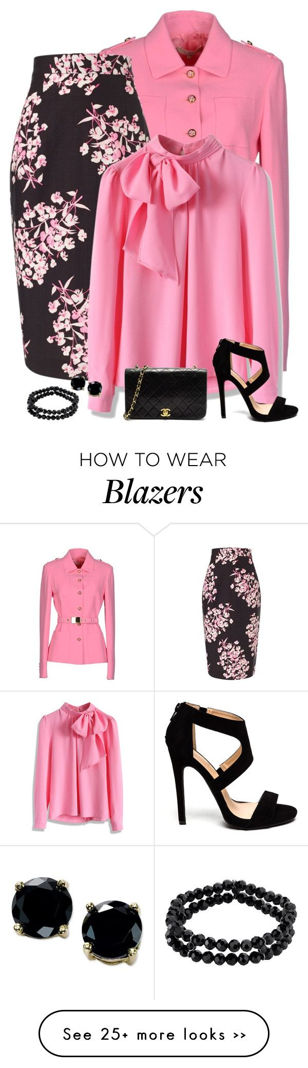 """classic pink & black"" by divacrafts on Polyvore"