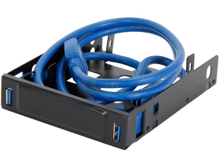 "BYTECC U3-225 USB 3.0 Front Hub Bracket for Dual 2.5"" HDD/SSD to 3.5"" Tray - Newegg.com"