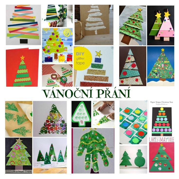 Vánoční přání vánoční stromeček