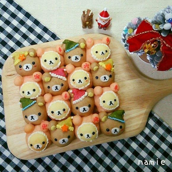 リラックマとコリラックマのクリスマスちぎりパン☆