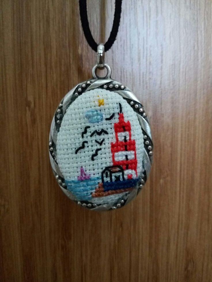 etamin dukkani 35 #Kendi tasarımım #deniz feneri #etaminkolye #handmade #elemeği #goznuru