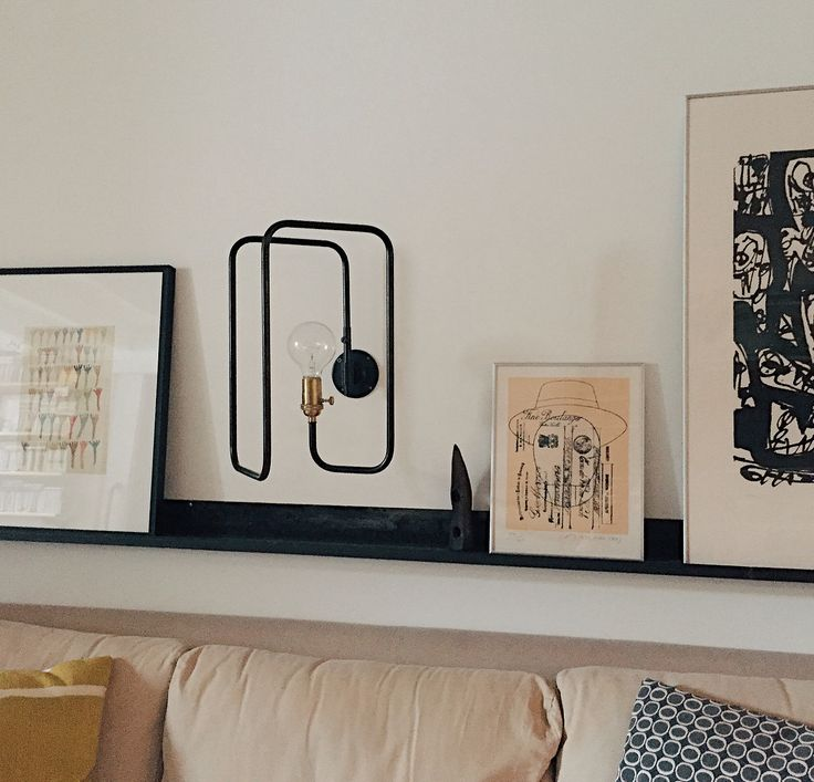 The shadeless Clip Sconce comes with an Edison Filament bulb; €379 ($402) each or €699 ($742) for two.