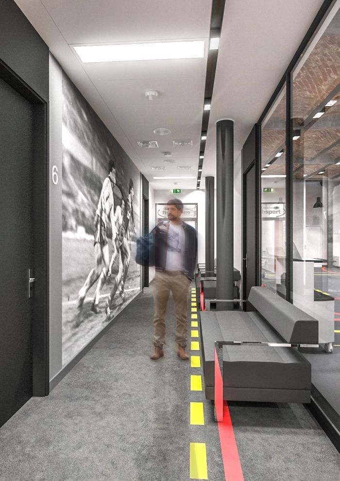 Industrial Style Healthcare Clinic For Enel Sport In Manufaktura Shopping Mall D