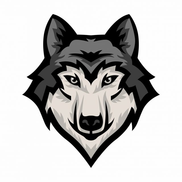 Wolf Head Mascot Logo Vector Graphic Mascot Silhouette Png And