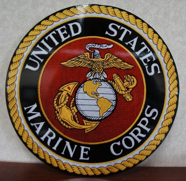 Marine Corps Man Cave Signs : United states marine corp quot dia metal sign new for