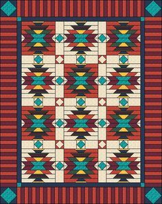 Southwest inspired Quilt Pattern Full/Twin size by QuiltPatterns, $8.49