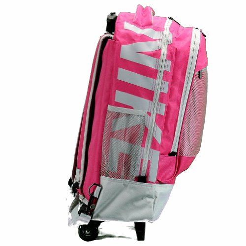Nike Accessories Microfiber Core Rolling Backpack (Pink Force (P08))  - Click image twice for more info - See a larger selection of school backpacks at http://kidsbackpackstore.com/product-category/school-backpacks/ - kids, kids backpack, school backpack, everyday backpack, school bag, gift ideas, teens backpacks.
