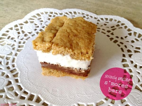 S'more Bars #NationalSmoresDay #recipe: Food Recipes, Laurenconrad With, Amazing Smore, Sweet Treats, Sweet Tooth, Bar Recipes, S Mores Bar, Smore Bar, S More Bar