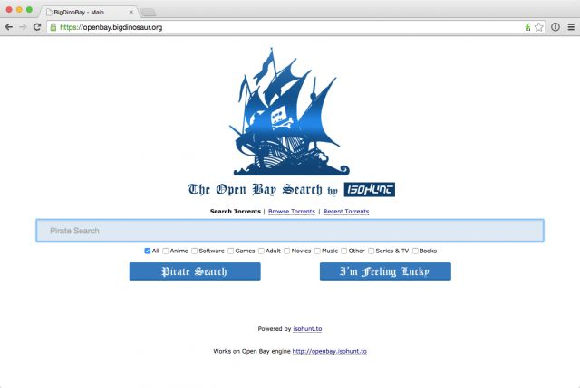 """Open Bay lets you run your own copy of The Pirate Bay—emphasis on """"copy"""""""
