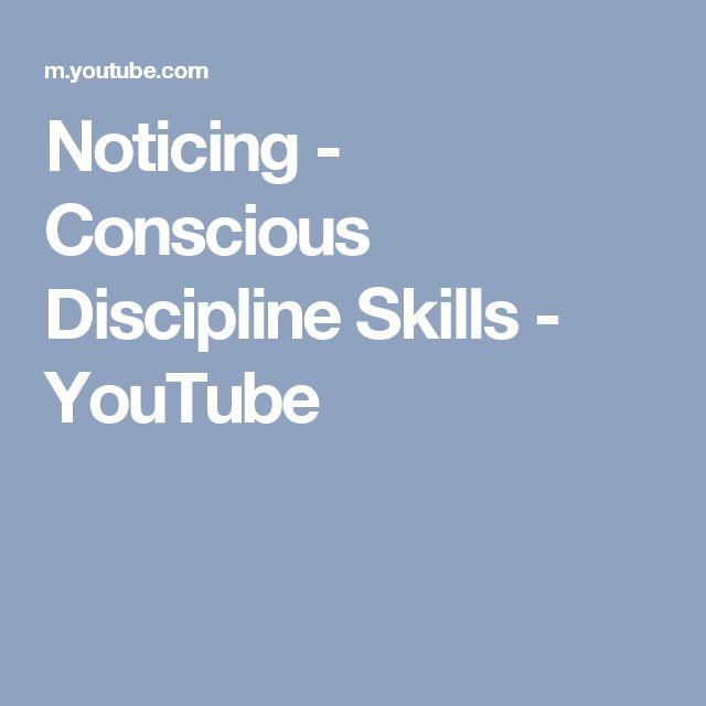 Noticing - Conscious Discipline Skills - YouTube